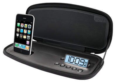 iP38 Portable Stereo Alarm Clock for iPhone/iPod