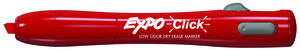 Expo Click Retractable Low-Odor Chisel Tip Dry Erase Markers