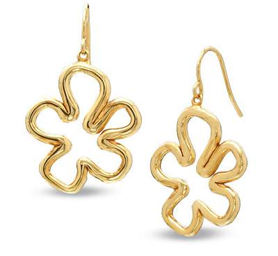 SpongeBob Sea Flower Earrings 18K Gold-Plated Sterling Silver