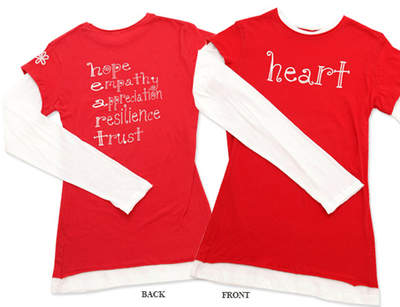 Heart Tee from Chewylou Designs