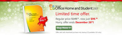 Microsoft Office Home & Student 2007 - only $99.99