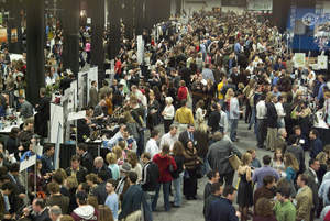 Overhead Crowd Shot of the 2008 Boston Wine Expo