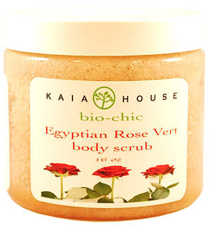 Kaia House Egyptian Rose Vert Body Scrub