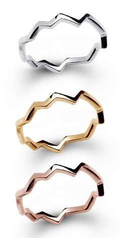 14k gold Crack rings by Love Rocks NY