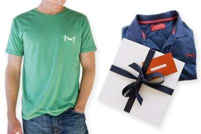 Marine Layer Polo with Gift Box