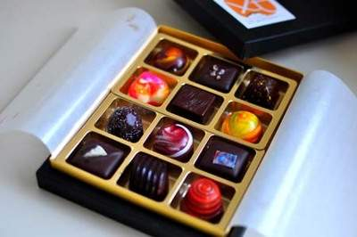 12 piece box of artisan chocolates