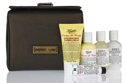 "Limited Edition Derek Lam for Kiehl's Travel kit containing Lip Balm #1, Crème de Corps, Amino Acid Shampoo, Crème de Corps Nurturing Body Washing Cream, and Conditioner & Grooming Aid ""Formula 133"