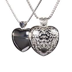 A Very Special Heart in rhodium silver