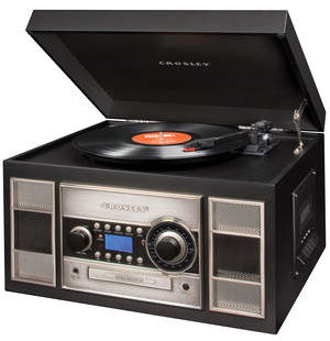 Crosley's CR2413A Memory Master II CD Recorder can convert your vinyl to digital in a breeze!