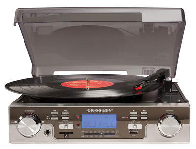 Crosley's CR6007A Tech Turntable is a fresh way to digitze your vinyl - its USB/SD encoding means there's no computer needed!