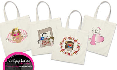 Lollipop Labs Studios Designer Canvas Totes
