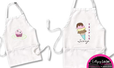 Designer Aprons by Lollipop Labs Studios