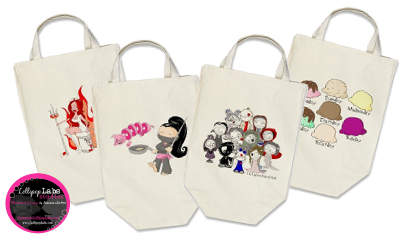 Designer Organic Grocery Totes by Lollipop Labs Studios