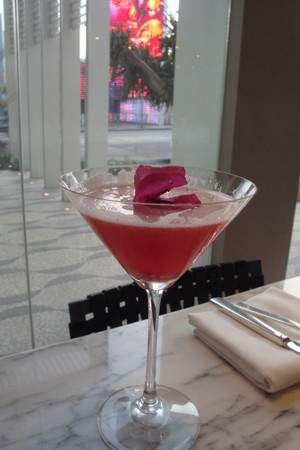 Berry in Love Cocktail Available at RH at Andaz along The Sunset Strip