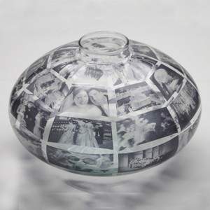 Jenny Gaynor Customized Glass Photo Vase