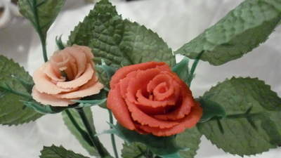 Martine's Long Stem Marzipan Roses Bouquet