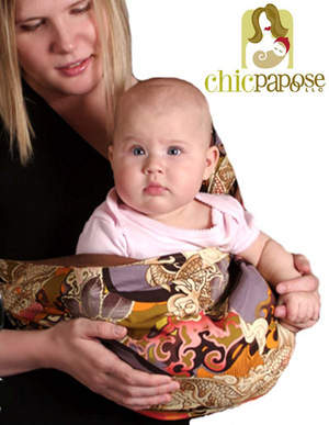 Chic Papoose Beautiful, Reversible Baby Slings