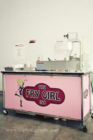 'The Fry Girl' mini donut cart