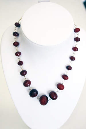 Ya Ya's Chunky Ruby Necklace