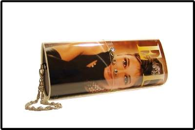 Aurdey Hepburn Magazine Clutch Purse