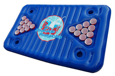Poolside Pong: Inflatable Beer Pong!