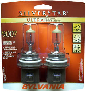 See farther, wider and better with SYLVANIA SilverStar(R) ULTRA headlights