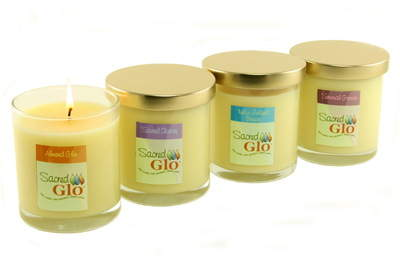 Sacred Glo lotion candles -- one product with three uses