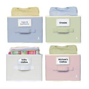 Neat Nursery Open Shelf Bins available in four colors!