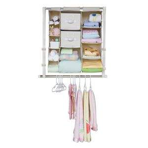 Neat Nursery Complete Closet pictured with Neat Nursery Open Shelf Bin!