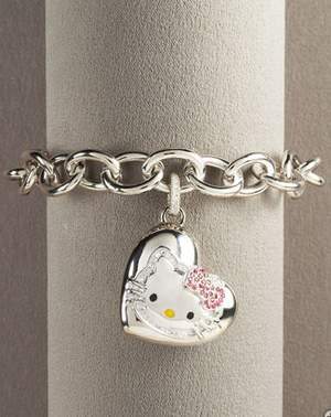 Sterling Silver Kitty Bracelet