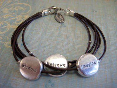 Leather Imagine Bracelet