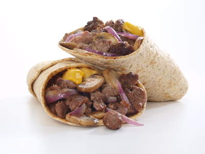Bison Cheesesteak Wrap