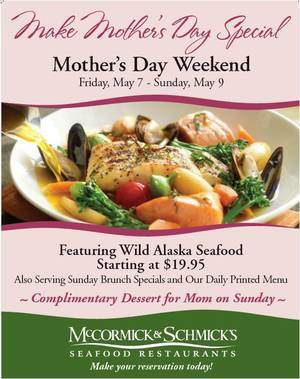Mother's Day at McCormick & Schmick's
