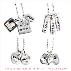 Personalized Recycled Silver Jewelry