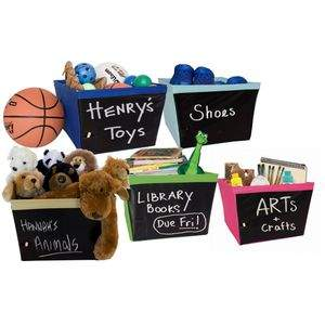 Kangaroom Chalkboard Bins for Kids!