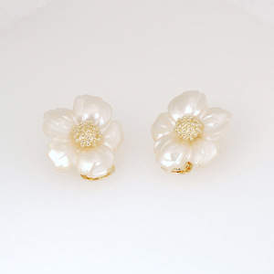Flower Seamen Schepps Clip Earrings