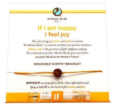 Energy Muse Wearable Scents Bracelet - Happy/Joy