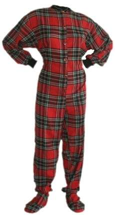 Red/Black Flannel Footed Pajamas