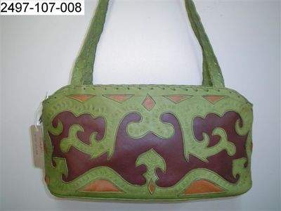 BEAUTIFUL EAST WEST TRI-COLORED HANDBAG