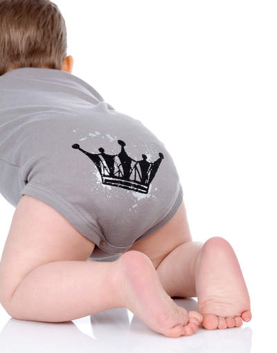 Infant Long Sleeve Bodysuit-Crown