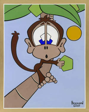 Monkey up a Coconut Tree