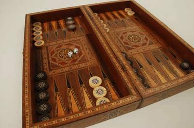 Moroccan Backgammon/Chess Box