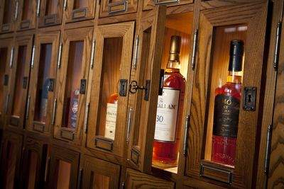 Wall of Scotch lockers at AGAINN