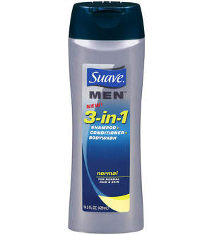 Suave Men 3-in-1 Shampoo + Conditioner + Bodywash