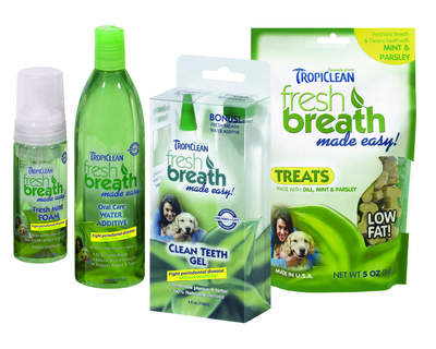 TropiClean Fresh Breath Made Easy is safe for both dogs and cats