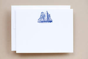 The Sailboat is one among 15 handsome and classic note cards.