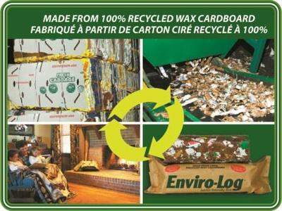Enviro-Log is the greenest and most versatile firelog on the market.