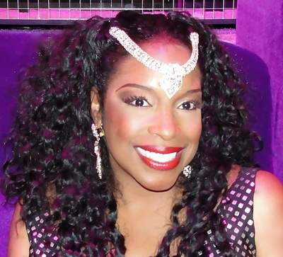 "Pictured is ""Dancing with the Stars"" singer Carmen Carter wearing her dazzling headpiece (also know as Nayari) from her patent-pending ""Crystals By Carmen"" jewelry line. For more information, visit www.CrystalsByCarmen.com"