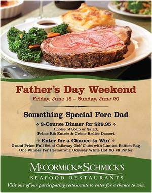McCormick & Schmick's Serves Up Prime Rib and