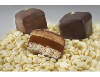 Xan Confections' Big Mouth Collection features a chocolate layered with crispy rice, marshmallow, caramel and peanut butter for a delicious Father's Day treat.